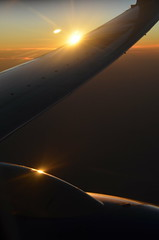 Sunrise (jpellgen (@1179_jp)) Tags: sanfrancisco california ca sunset sky sun fall minnesota clouds plane sunrise airplane nikon october sfo minneapolis msp tamron mn 2014 18200mm d5100