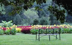 Hampton Mansion NHS ~ HBM! (karma (Karen)) Tags: flowers plants gardens maryland benches hbm usparks baltimoreco benchmonday hamptonmansionnhp