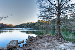 53/365.2016 Red Bud Isle (OscarAmos) Tags: sunset reflection water austin landscape downtown texas availablelight coloradoriver hdr lightroom 18200mm photomatix tonemapped detailenhancer topazadjust project3652016 nikond7200 oscaramosphotography