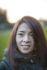Selfie (jayohaycheen) Tags: park portrait green me nature girl up canon hair asian outdoors 50mm eyes dof open close wide taiwan lynnwood taiwanese lightroom f12 12l 5dc 5dclassic