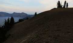 Crater Lake, Oregon (lotos_leo) Tags: travel mountain lake nature water stone oregon landscape volcano nationalpark twilight outdoor or hill cascades craterlake pacificcresttrail klamath stratovolcano craterlakenationalpark rimdrive mountmazama  klamathcounty llaobay cascadevolcanicarc   crossamerica2015