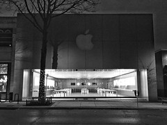Before the dawn (IamJomo) Tags: blackandwhite bw apple monochrome maryland applestore bethesda iphone brow jomo montgomerycounty r112 takenwithaniphone iphoneography iphone6 snapseed smallworldphotos jomophoto