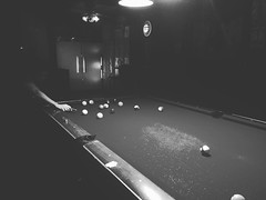 date night billiards (anokarina) Tags: bw pool monochrome blackwhite korea seoul billiards itaewon goldbar       instagram  appleiphone6