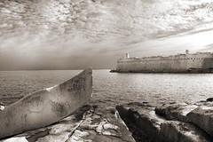 Fort St Elmo (albireo 2006) Tags: sea blackandwhite bw sepia coast blackwhite fort malta pb nb bn fortification fortress seashore valletta blackandwhitephotos blackwhitephotos