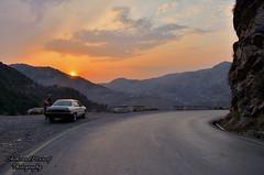 Sunset Drive (Shehzaad Maroof Khan) Tags: road pakistan sunset sun mountains nature car drive nikon ontheroad nathiagali abbottabad sunsetdrive khyberpakhtunkhwa