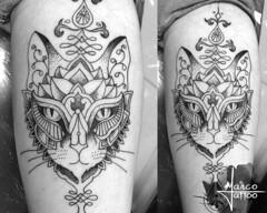 Gato! (Marco Miranda Tattoo) Tags: trao pontilhismo