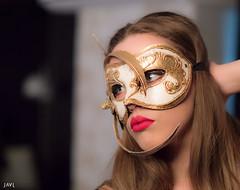 Carnaval (JaviJ.com) Tags: madrid espaa woman sexy green girl beauty fashion mujer spain model eyes pretty chica mask makeup estudio raquel modelo ojos mascara verdes