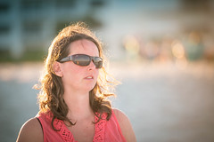 A thoughtful candid... (Allan James Fisher) Tags: beach beauty nikon women florida candid backlit cocoa 70200mm vrii