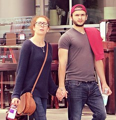(ManontheStreet2day) Tags: boy beard couple nipple chest tshirt crotch twink jeans cap bluejeans