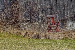 Have a Seat (gabi-h) Tags: old abandoned grass barn rural spring vines chair antique farm rustic northumberland gabih