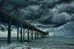 Catherine Hill Bay wharf (Anders V) Tags: clouds pier australia mining wharf newsouthwales coal catherinehillbay