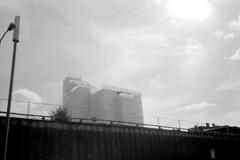 (Ian Justice) Tags: street blackandwhite monochrome 35mm sheffield delta roam ilford castlemarket