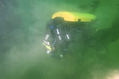 What the viz was like by the second dive. (rjknell) Tags: scuba diving rebreather vobster