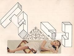 relaxation (kurberry) Tags: collage cutpaste cutandpaste vintageephemera collageaday