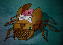 Naked Lunch (z.Wax) Tags: texture nova typewriter illustration photoshop paper naked lunch s william bugs clark cockroach portatile scarab nakedlunch surreale illustrazione borroughs zwax