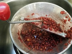 Making Kalyna (AKA Cranberry Jelly)  From highbush cranberries (canadianlookin) Tags: food cranberry jelly canning highbush kalyna