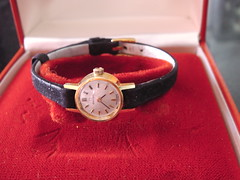 ** Ma montre Omega ** (Impatience_1) Tags: montre watch omega heure time ancien old vintage souvenir memory m impatience rouge red montrebracelet wristwatch temps