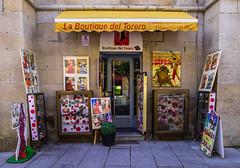 Ol (Walimai.photo) Tags: street plaza color colour lumix calle spain bulls panasonic mercado tienda bullfighter boutique toros salamanca bullfight torero lx5