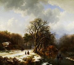 Barend Cornelis Koekkoek  Winterlandschap (1837) (eduard43) Tags: trees winter people house landscape 1837 winterlandschaft tylersmuseum barendcorneliskoekkoek