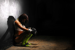 Undefeated (Studio d'Xavier) Tags: portrait laura sweat boxer boxing fitness contender undefeated strobist