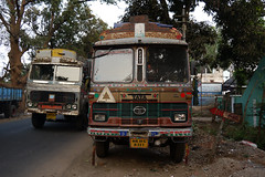 Typical Indian trucks in Jeypore (Odisha) (sensaos) Tags: asia india orissa odisha travel sensaos 2013 tribal culture cultural indian truck tata vehicle