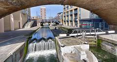 Thames Walk April 2016 (7 of 14) (johnlinford) Tags: urban london water thames canal lock regentscanal thamespath weir canonefs1022 canoneos7d