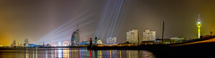 Panorama Sail 2015 - Bremerhaven (PixTuner) Tags: panorama ice water skyline night nightlights waterfront spots weser bremerhaven lzb pixtuner