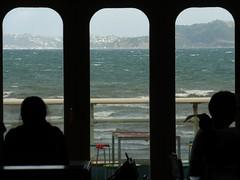 Choppy (Fraser P) Tags: sea newzealand beach weather cafe harbour wellington petone lowerhutt
