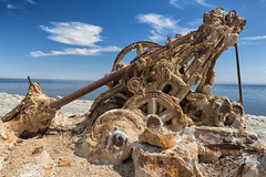 Broken Down (CEBImagery.com) Tags: california sea beach broken water metal rust time decay salt bombay corrosion dredge salton