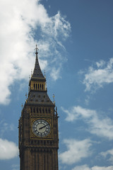 96/366 (abnormalbeauty.) Tags: blue sky white london tower clock architecture clouds gothic memories bigben skyporn