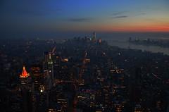 coucher du soleil  sur manhattan (Slama HICHEM) Tags: new york couche