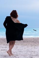 Viola (SoloImmagine) Tags: sea girl hat sand mare diary lingerie viola diario cappello sabbia sottoveste spiaggebianche