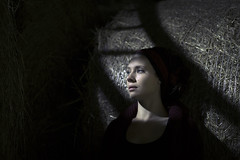 Lucie I (Nina Fourquet) Tags: light woman mood shadows indoor clair obscur