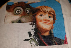 Shadows (diedintragedy) Tags: frozen crossstitch cross crafts stitching sven crafting artsandcraft kristoff frozencrossstitch crossstitchproject crossstitchprogress