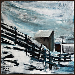 bad weather HFF (Jocawe) Tags: blue brown white snow black clouds painting square 50mm availablelight canvas dpp acryl hff