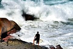 """Should I stay or Should I go?"" (Billy W Martins ) Tags: ocean floripa man sport rock coast nikon rocks surf florianpolis wave surfing ondas costo oceano praiadajoaquina d7100"