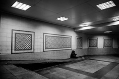 Box of misery (Abdulaziz Ceylan) Tags: life street city light shadow portrait people urban blackandwhite bw black color eye nature monochrome night composition contrast turkey square photography photo women raw day shadows natural photos box outdoor geometry live candid trkiye crowd deep streetphotography streetlife istanbul human fujifilm misery 16mm fujinon sokak candit rithm siyahbeyaz streetstory xt1 streetvision fujicolors sokakfotorafl