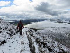 UK - Wales - Denbighshire - Near Llanbedr-Dyffryn-Clwyd - Offa's Dyke Path - Walking through snowy landscape of Moel Fenlli (JulesFoto) Tags: uk snow wales walking snowylandscape denbighshire clwydianhills offasdykepath llanbedrdyffrynclwyd