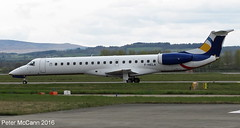 F-HELA Em145 Glasgow April 2016 (pmccann54) Tags: embraer145 fhela