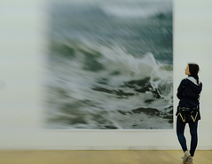 F6088 ~ On the verge of visibility (Teresa Teixeira) Tags: sea lensbaby landscapes waves photographer exhibit porto serralves wolfgangtillmans teresateixeira