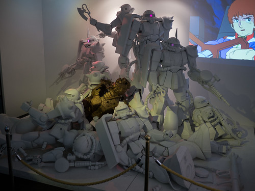 Zaku Dream sculpture, Bandai Museum