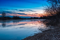 Beautiful Sunset By The River (k009034) Tags: sunset sky people reflection nature water beautiful night clouds rural finland river landscape flow countryside dusk no space branches nopeople scene copyspace copy tranquil tranquilscene oulainen 500px teamcanon matkaniva