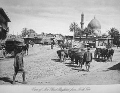 New Street, Baghdad (Terterian - A million+ views, thanks.) Tags: street new vintage photography book gate photos brothers minaret north transport mosque photographic views dome baghdad times plates horsedrawn collectible rare abdul 1925 studies kerim basra irag basrah bygone hasso cemera