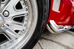 Comp (GmanViz) Tags: color detail car wheel nikon automobile cobra replica fender chrome shelby sidepipe gmanviz d7000