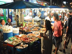 Food stalls (kawabek) Tags: thailand stall chiangmai         parsol