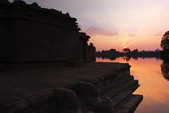 Bhootnath temple, Badami (Vamshi Krishna S) Tags: sunset lake temple caves karnataka badami chalukya bhoothnath aghatsya