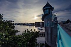 Encroaching Clouds (GRO Photography) Tags: sunset water pier boat yacht drawbridge tropics condominiums boyntonbeach wideanglelens intracoastalwaterway gnd 5dsr