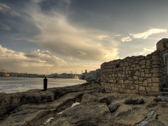 Clouds over the Grand Harbour in Malta (neilalderney123) Tags: history water wall clouds harbour olympus malta omd 2015neilhoward