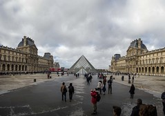 Paris - Louvre Pyramid (chrisbastian44) Tags: city urban paris france building art museum architecture europe european pyramid louvre palace opulent cdg worldfamous louvremuseum workofart architecturalworkofart