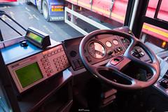 Metroline DP1010 Drivers Cab (LFaure Photography) Tags: bus london controls vehicle publictransport middlesex steeringwheel ticketmachine westlondon greenford metroline driverscab dennisdart buscab plaxtonpointer routee6 dp1010 rl51dnx